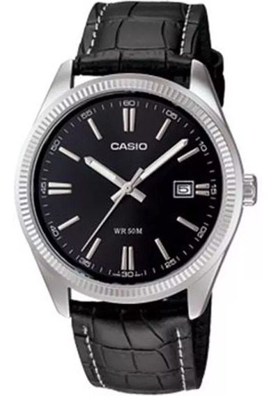 Relógio Casio - Mtp-1302l-1avdf - Leather Strap - Promoção