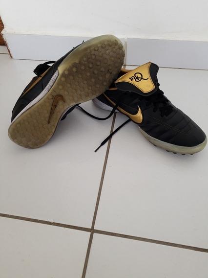 Chuteira Society Nike Tiempo R10 Original Usada.