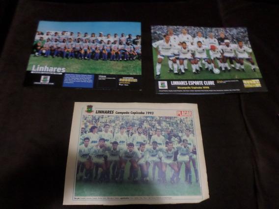 Linhares Espirito Santo 3 Posters Revista Placar Futebol