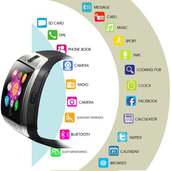 Relógio Inteligente C/ Câmera Q18 Bluetooth Smartwatch K3847