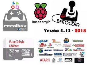 Cartão 64gb Recalbox 11.000 Jogos Para Raspberry Pi3 (2018)