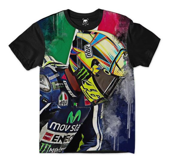 Camiseta Valentino Rossi Moto Mx 46 Italy Moto Gp Off Road