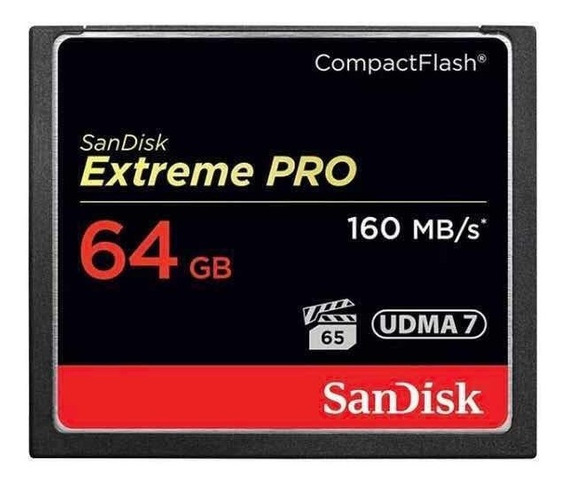 Cartao Cf Compact Flash 64gb Sandisk Extreme Pro - Original