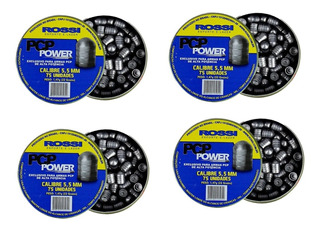 Kit 300un Chumbinho Rossi Pcp Power 1,47g 5,5mm