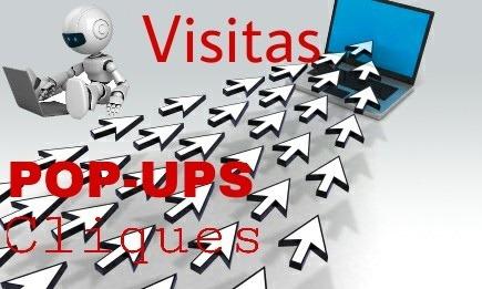 Bot Popups, Visitas , Cliques Para Site.