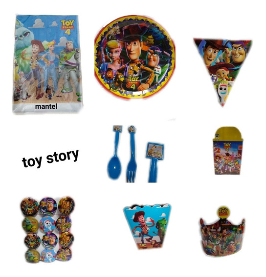 Toy Story Paquete Fiesta Tematico Articulos Set Kit