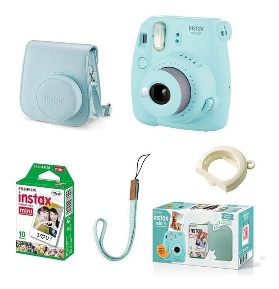 Kit Instax Mini 9 Bolsa E 10 Poses Azul Aqua- Fujifilm