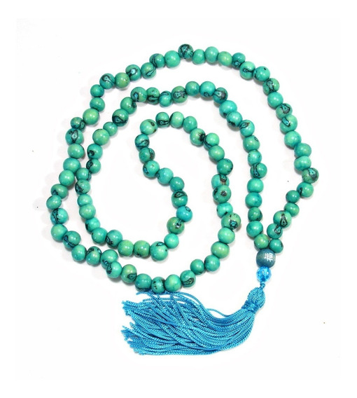 Japamala Semente Açaí Azul Turquesa 108 Contas Hooponopono