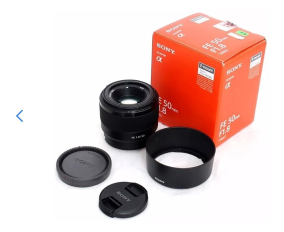 Lente Sony Fe 50mm F/1.8 E-mount Sel50f18f Caixa Lacrada