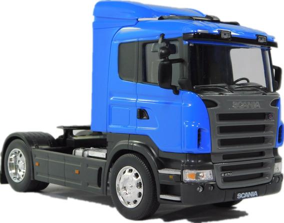 Miniatura Carreta Caminhão Scania R470 Escala 1:32 De Metal