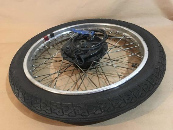 Pneu Aro Espelho De Freio Roda Dianteira Honda Cg 125 96 99