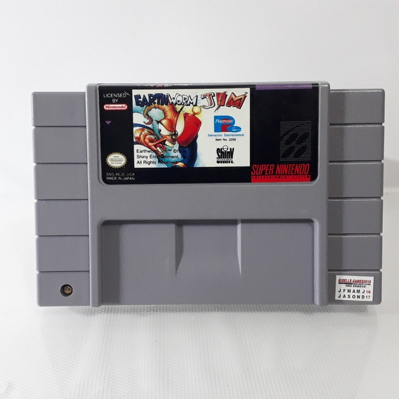 Jogo Earthworm Jim 1 Snes Super Nintendo Original Confira!!!