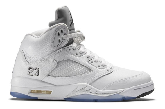Zapatillas Air Jordan 5 Retro - White Metallic / Pure Money