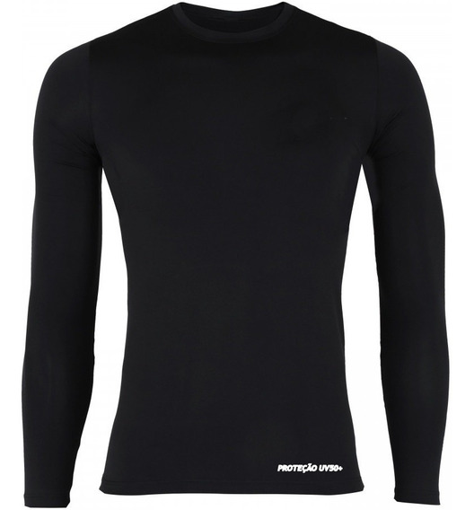 Camisa Térmica Slim Segunda Pele Com Proteção Uv-50 Solar