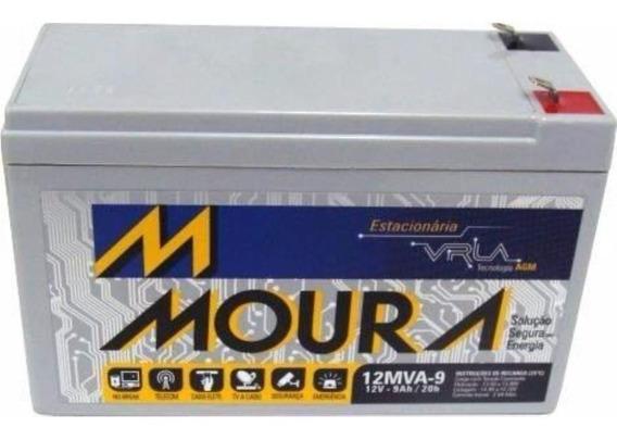 Bateria Moura 12v 9ah Vrla Bicicletas Scooter Elétricas + Nf
