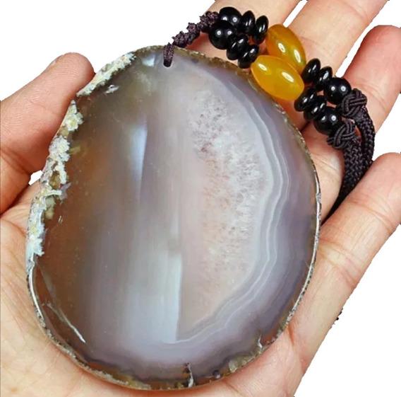 237.2ct 100% Natural Colgante Agata Geoda Cristal Mistico