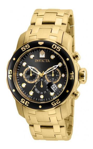 Relógio Invicta Pro Diver 80064 Banhado Ouro 18k