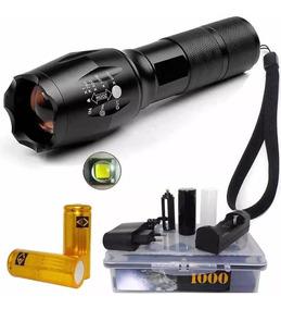 Lanterna Tática Martinelli 1000 C/3 Baterias Recarreg 26650