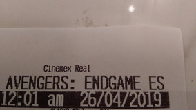 2 Boletos Estreno Avengers Endgame