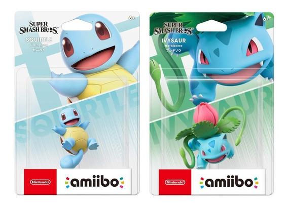 Amiibo Squirtle Ivysaur Super Smash Bros Ultimate Nintendo