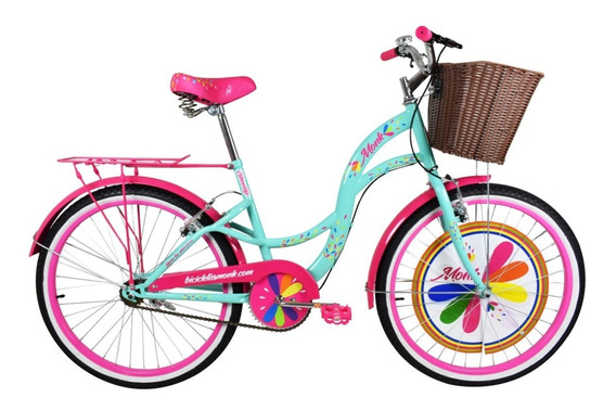 Bicicleta Monk Urbana Shon Life Rodada 24 1 Velocidades