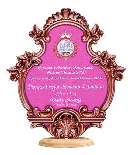 Trofeos Reconocimientos Placas. Mdf Y Resina.