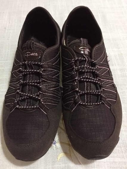 Zapatos Deportivos Para Dama Talla 37 Marrón Usado