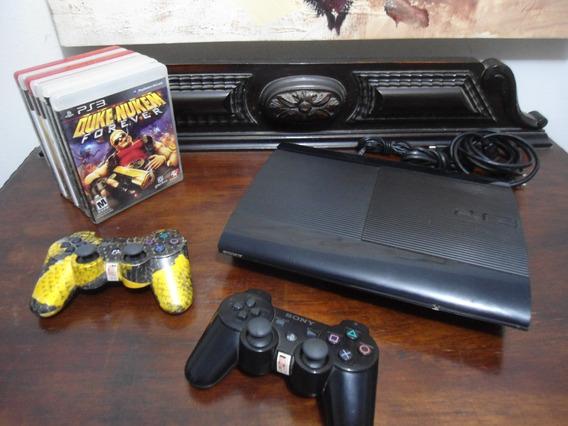 Playstation 3 + 2 Manetes + 7 Jogos Originais