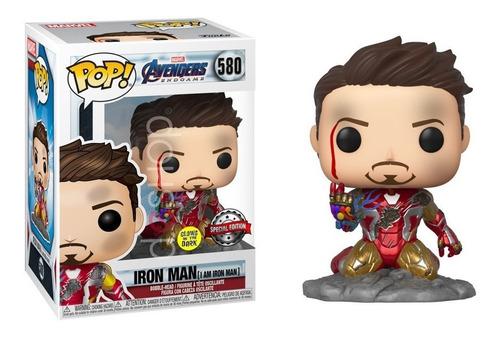 Iron Man  Con Nano Guante  Funko Pop Brilla En La Oscuridad