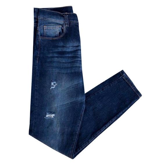 Jeans De Mujer Chupín Elastizado Modelo Kitta Talle 34 Al 46