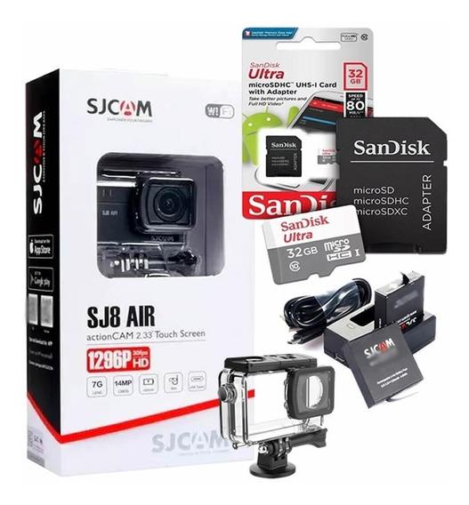 Câmera Esportiva Sjcam Sj8 Air Original + Kit Bateria + 32gb