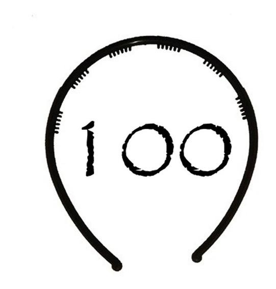 Vinchas Plásticas Para Forrar 4 Mm Negras X 100 Unidades