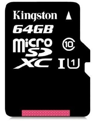 Micro Sd Kingston 64 Gb,original, Classe 10, Alta Velocidade