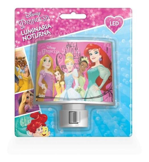 Abajur Luminária De Tomada Bivolt Led Princesas Disney Gedex