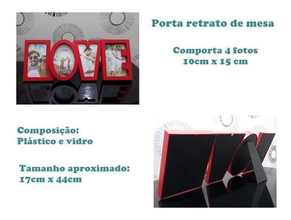 Porta Retrato Múltiplo De Mesa Para 4 Fotos Rio Master