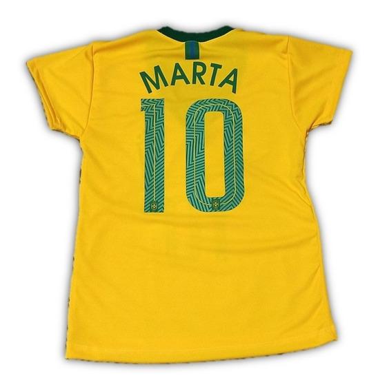 Camisa Da Marta Seleção Brasileira Feminina A Melhor Mundo!