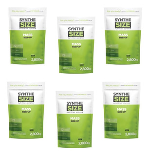 Kit: 6x Mass Up Size - 2,8kg - Synthesize Nutrition Atacado