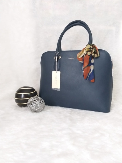Bolso David Jones Modelo Cm4045 En Tono Azul
