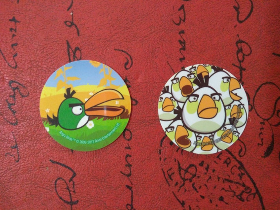 Lote 2 Tazos Angry Birds