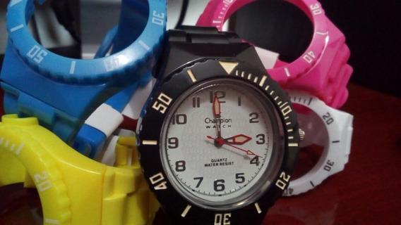 Relógio Troca Pulseira Unissex Retrô Vintage Kit 2 Estojos