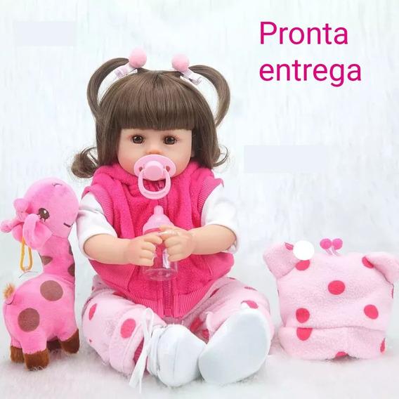Bebe Reborn Boneca Girafinha Menina 46cm Realista Linda