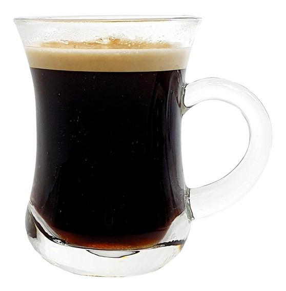 Set 6 Taza Jarros Mugg Vidrio Café Té Bebidas