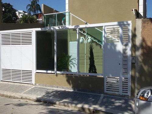 Imagem 1 de 23 de Excelente Sobrado Em Condomínio Com 3 Vagas E Churrasqueira - 3552
