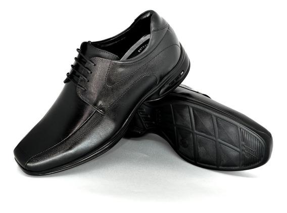 Sapato Jota Pe Couro 3d Conforto Salto Interno +6,5cm 79653