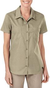 Camisa De Trabajo Uso Rudo Manga Corta 3xl Mujer