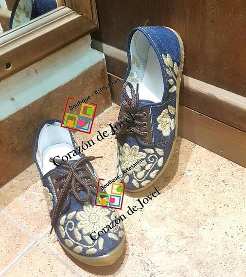 Tenis Bordados A Mano/calzado Para Dama!! Cómodos!artesanal