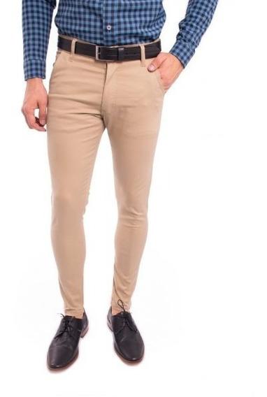 Pantalon Chupin Chino Gabardina Varios Colores Elastizado