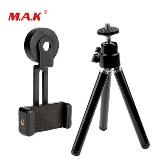 Suporte Adaptador + Tripé De Celular P/luneta, Monóculo 42mm