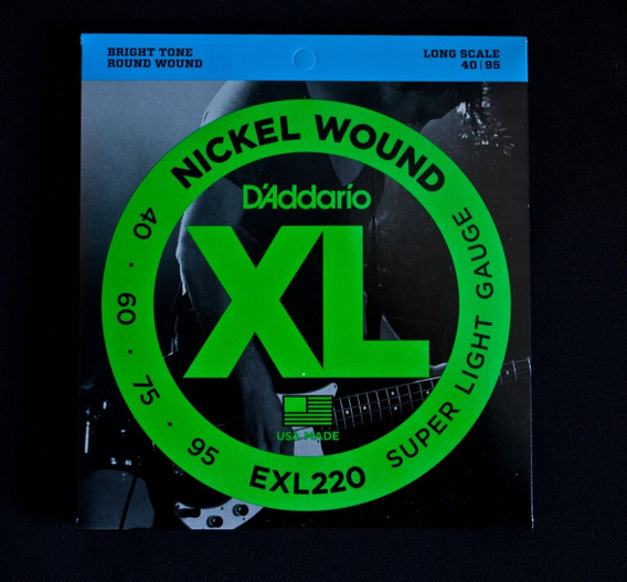 Encordado Bajo Daddario Exl220 - 040-095 4 Cuerdas - Oddity