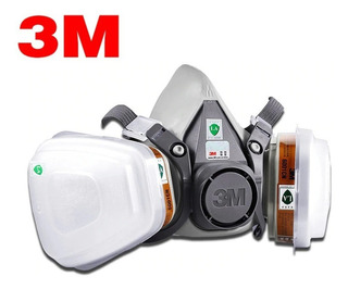 Máscara Respirador Gás Semi Facial 3m 6200-completa 17em1